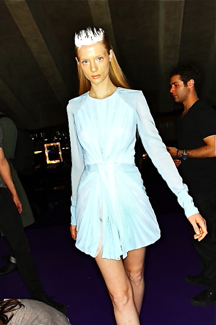 Dion Lee, this dress has intrigued ties at the front which hang so delicately